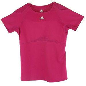 Adidas Womens Dry Wicking Running SHirt Sz S Pink
